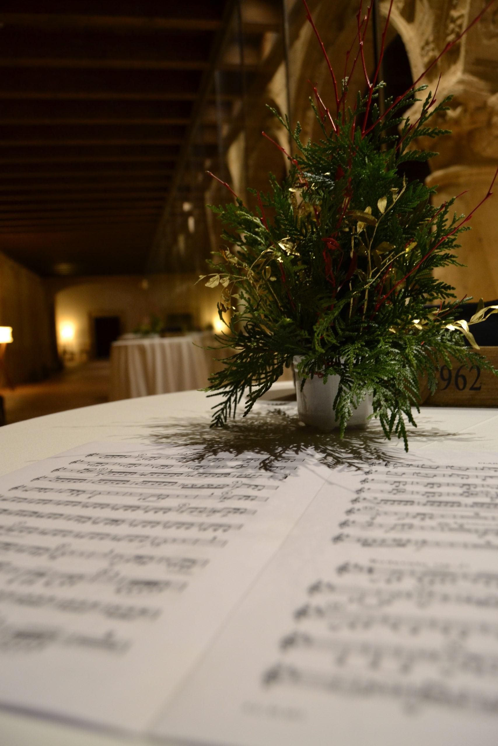 Partitura de música del grupo cuarteto Scherzo en Cóctel en Valbuena