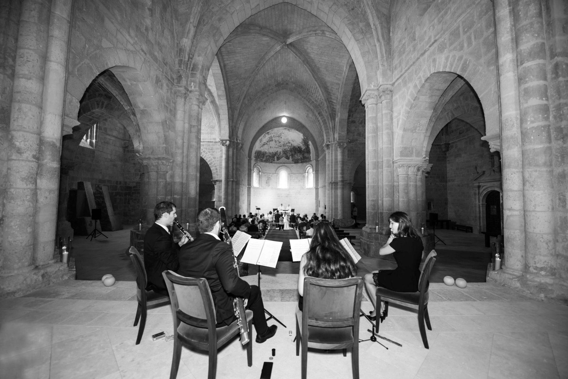 Música de cámara boda religiosa en Abadía Retuerta